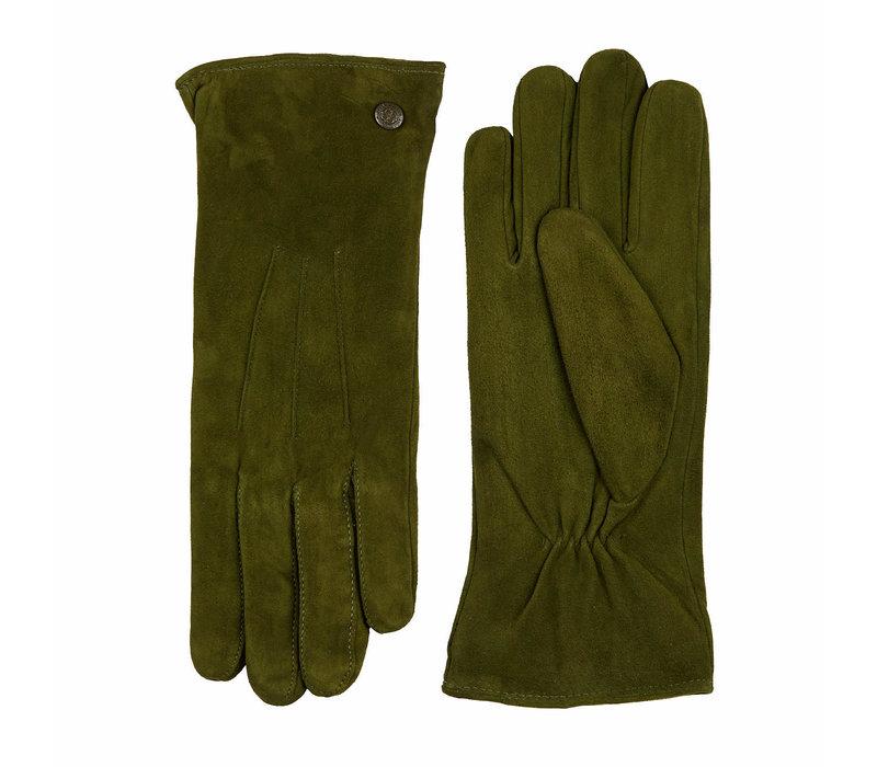 Suède dames handschoenen met drie opnaden model Boretto
