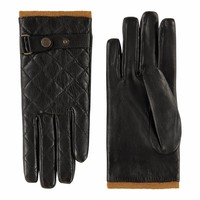 Sporty leather ladies gloves with fleece lining model Infesta