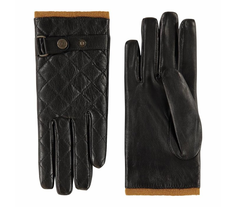 Sportieve leren dames handschoenen met fleece voering model Infesta