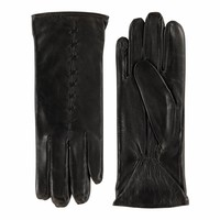 Leather ladies gloves made of lamb leather model Lezuza