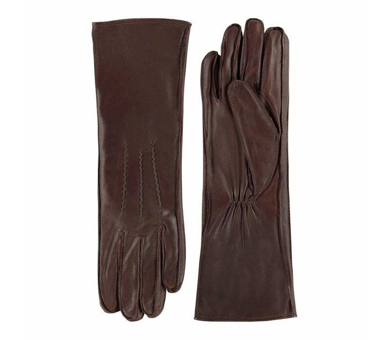 Lange nappa leren dames handschoenen model Reinoso