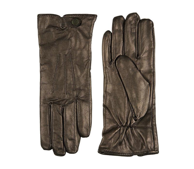 Leren dames handschoenen met bandje en drukknoop model Scarlino