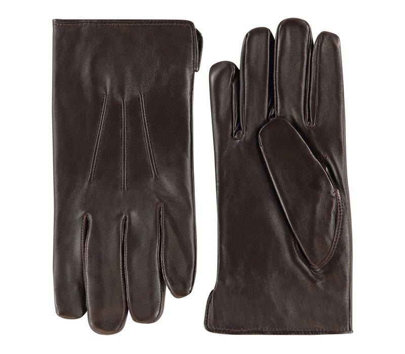 Leather men's gloves model Edinburgh
