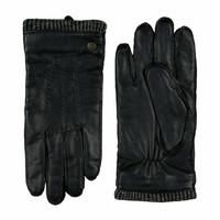 Leather men's glove with woolen cuff model Thornbury