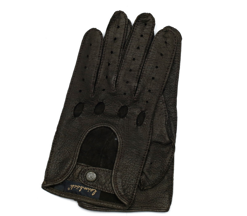 Peccary leather men's driving gloves model Nevada