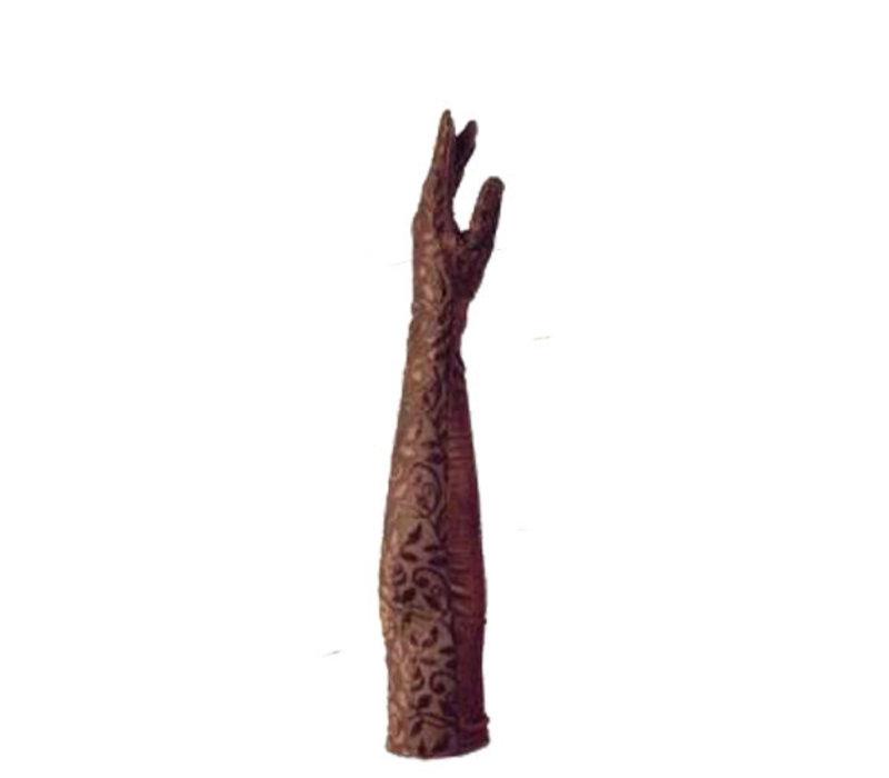 Fluwelen dames party handschoenen model Atenco