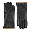 Laimböck Leren heren handschoenen model Iscar ,dit model is extra lang en heeft een wollen manchet en heeft een warme gebreide wollen voering