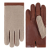 Laimböck  leather men's gloves with crochet upper hand model Yale