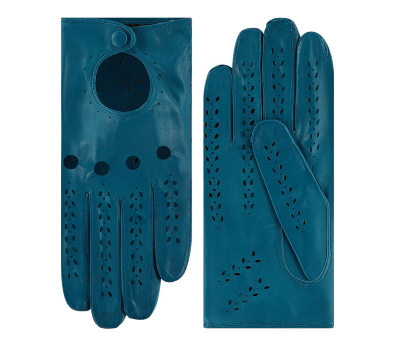 Ongevoerde leren dames handschoenen model Formia