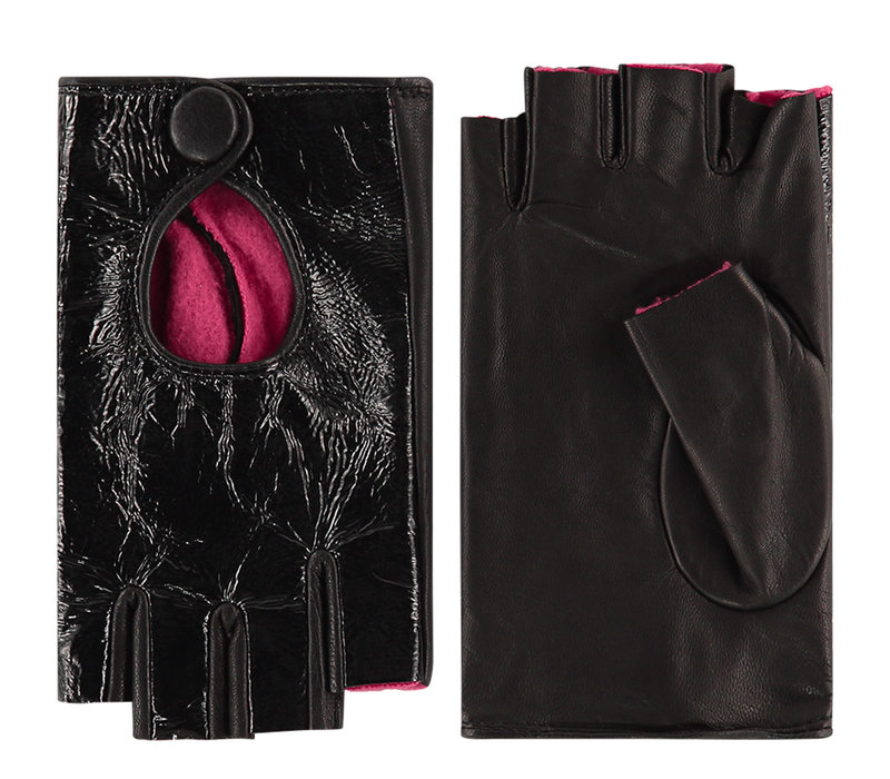 Leren dames handschoenen met halve vingers model Izurzu