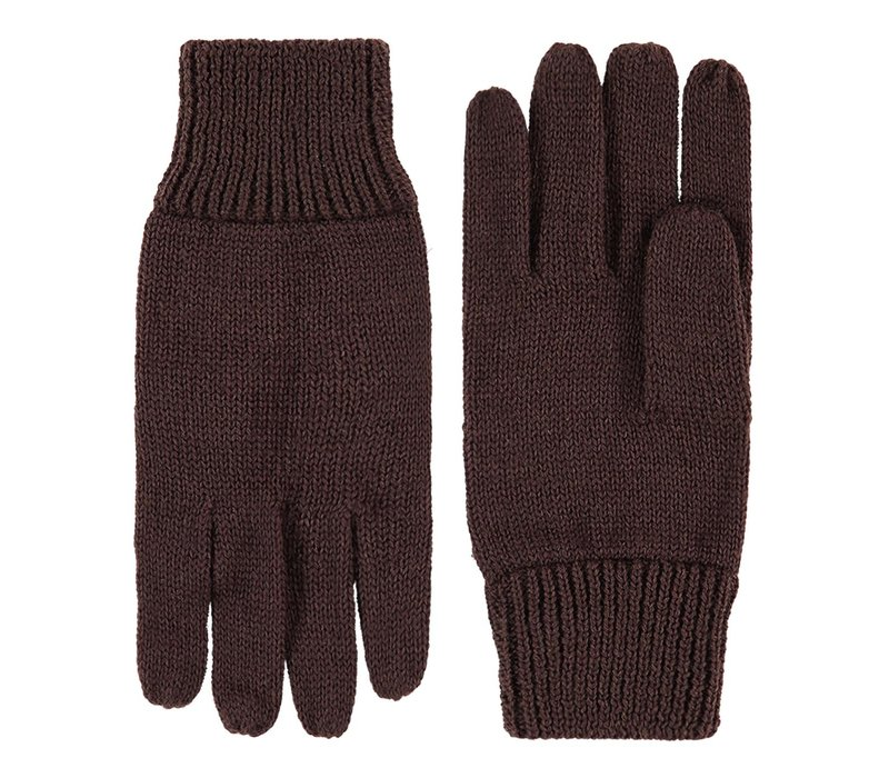 Knitted ladies gloves made of pure wool model Leipzig