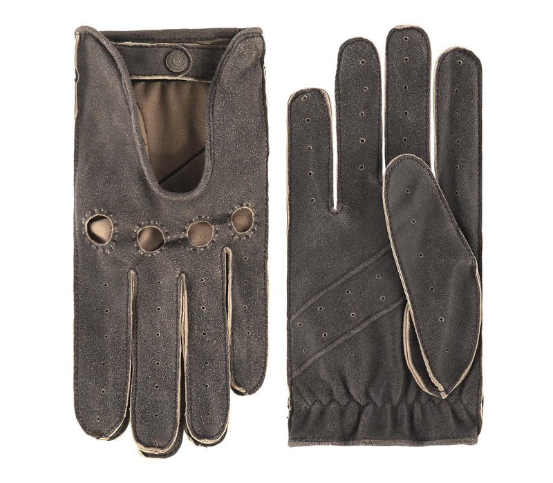 Vintagelook leren autohandschoenen voor heren, model Gladstone