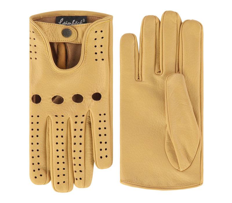 Leather men's driving gloves model Posina