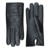 Laimböck  Leather ladies gloves with crocodile leather print model Lianes
