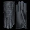 Laimböck Leren dames handschoenen met krokodillenleer print model Lianes