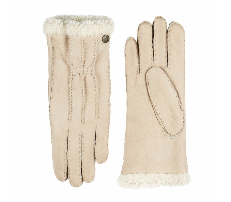 Curly lammy ladies gloves model Stockholm