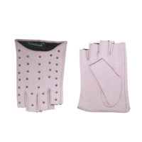 Leren dames handschoenen met halve vingers model Zapopan