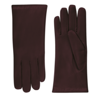 Leather ladies gloves with wool lining model Dover