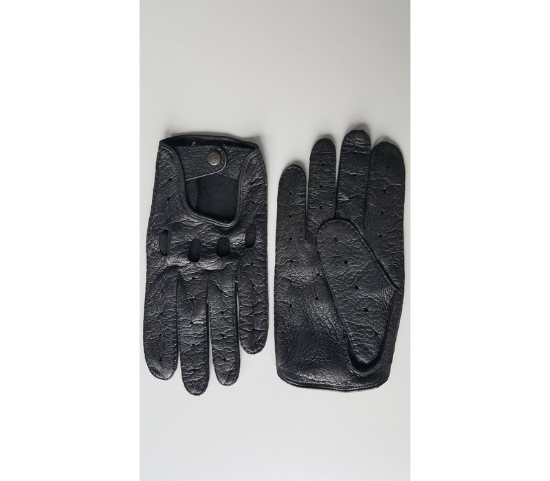 Luxury peccary leather men's driving gloves model Bootle