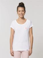 Bataia Women's T-Shirt - Octave - White/Infrared