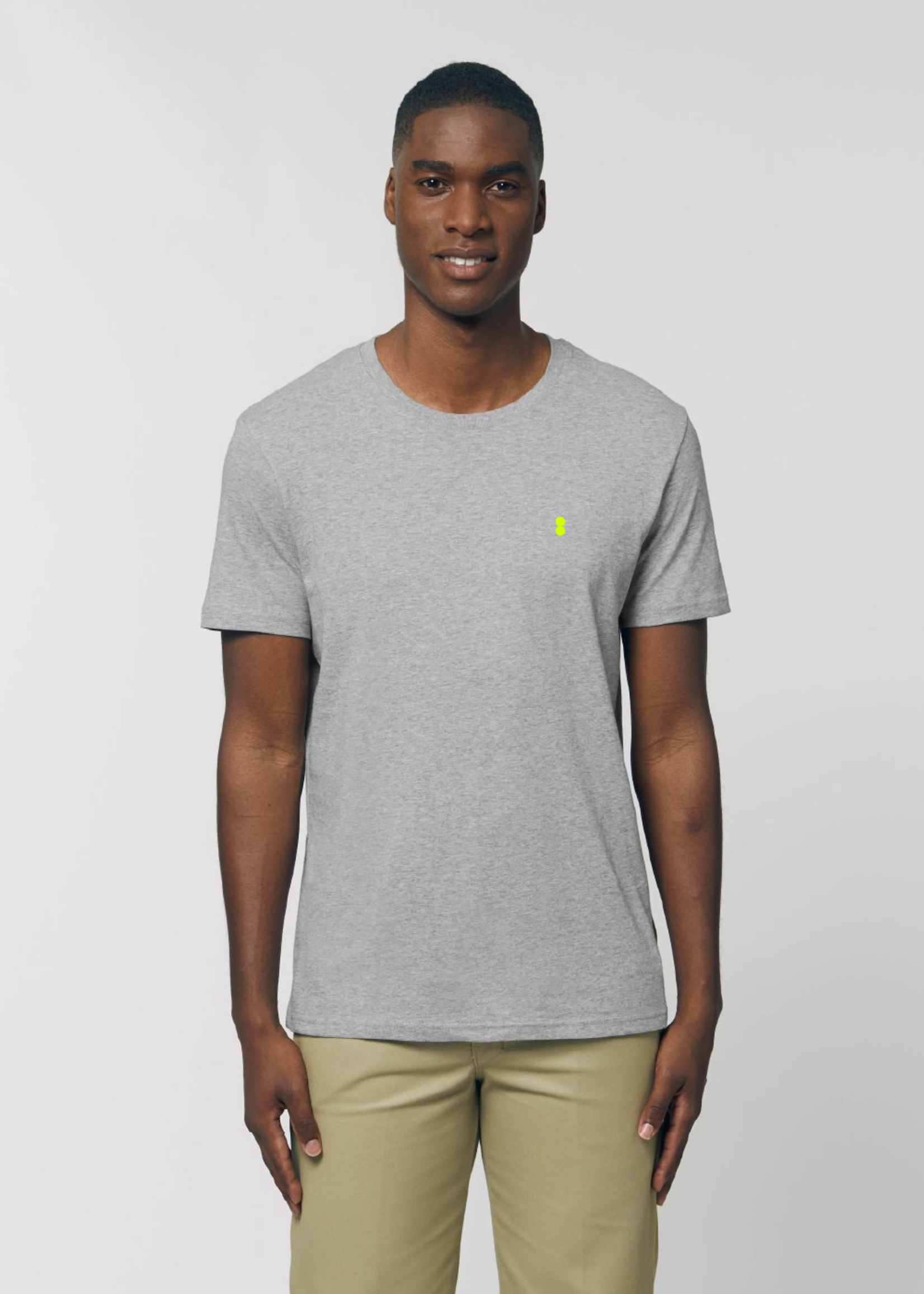 Bataia T-Shirt - All in All the time - Grey/Fluo