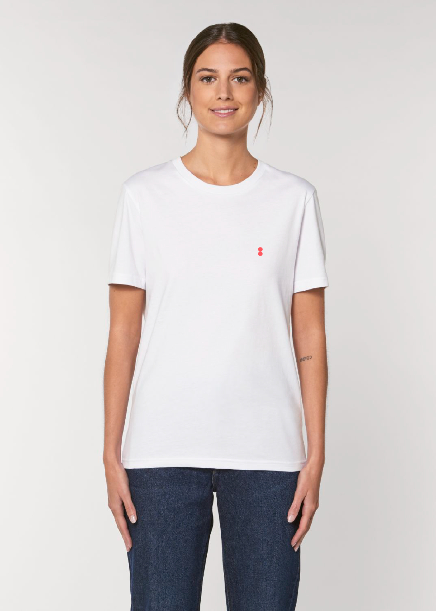 Bataia T-Shirt - All in All the time - White/Infrared