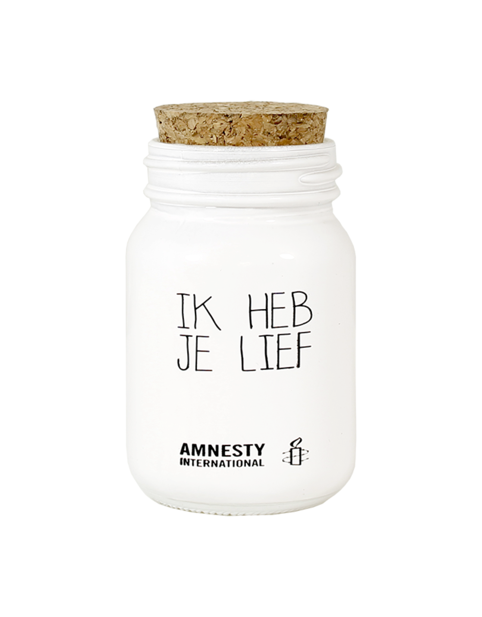 My flame Lifestyle SOJAKAARS – IK HEB JE LIEF – GEUR: FRESH COTTON