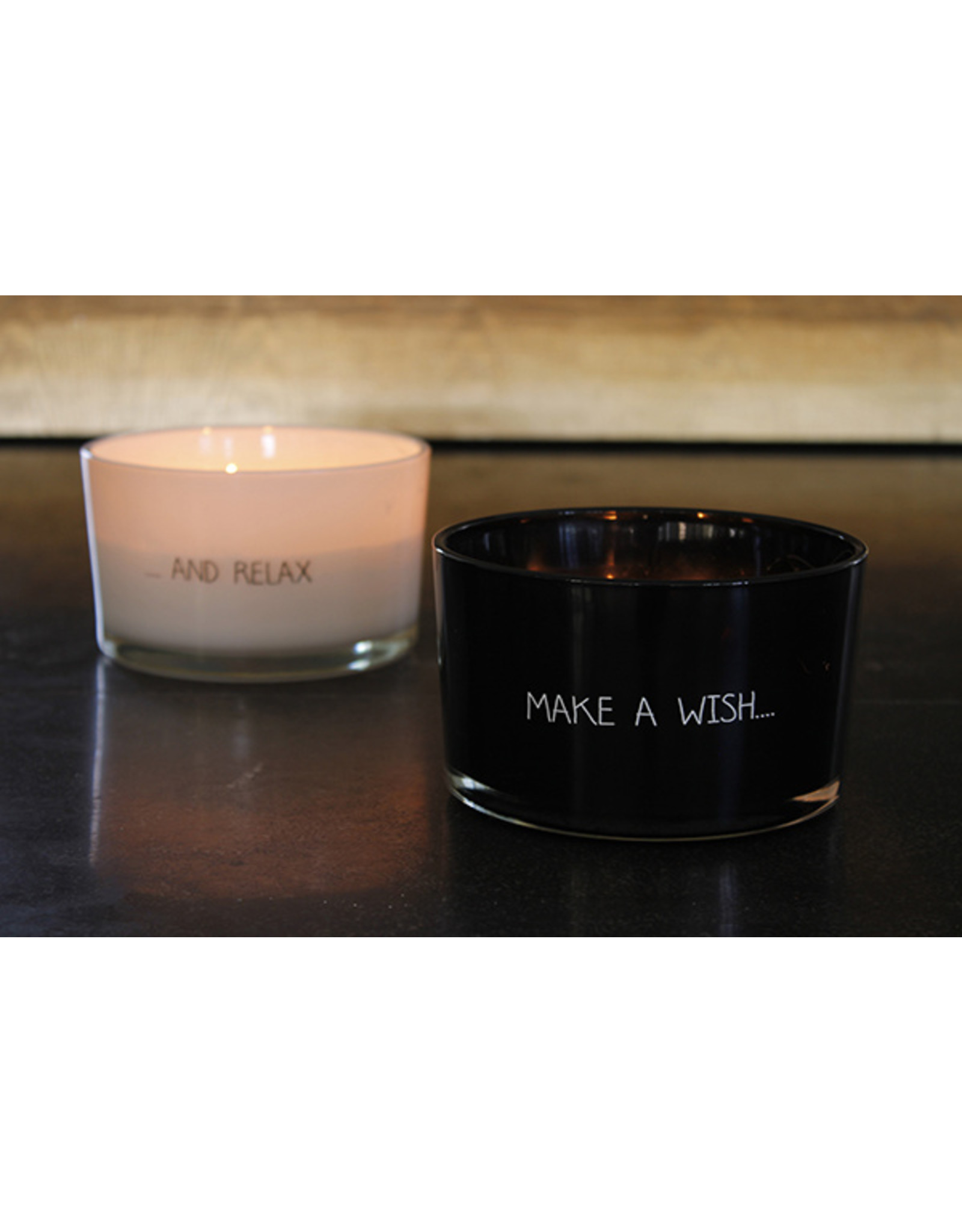 My flame Lifestyle SOJAKAARS – MAKE A WISH – GEUR: WARM CASHMERE