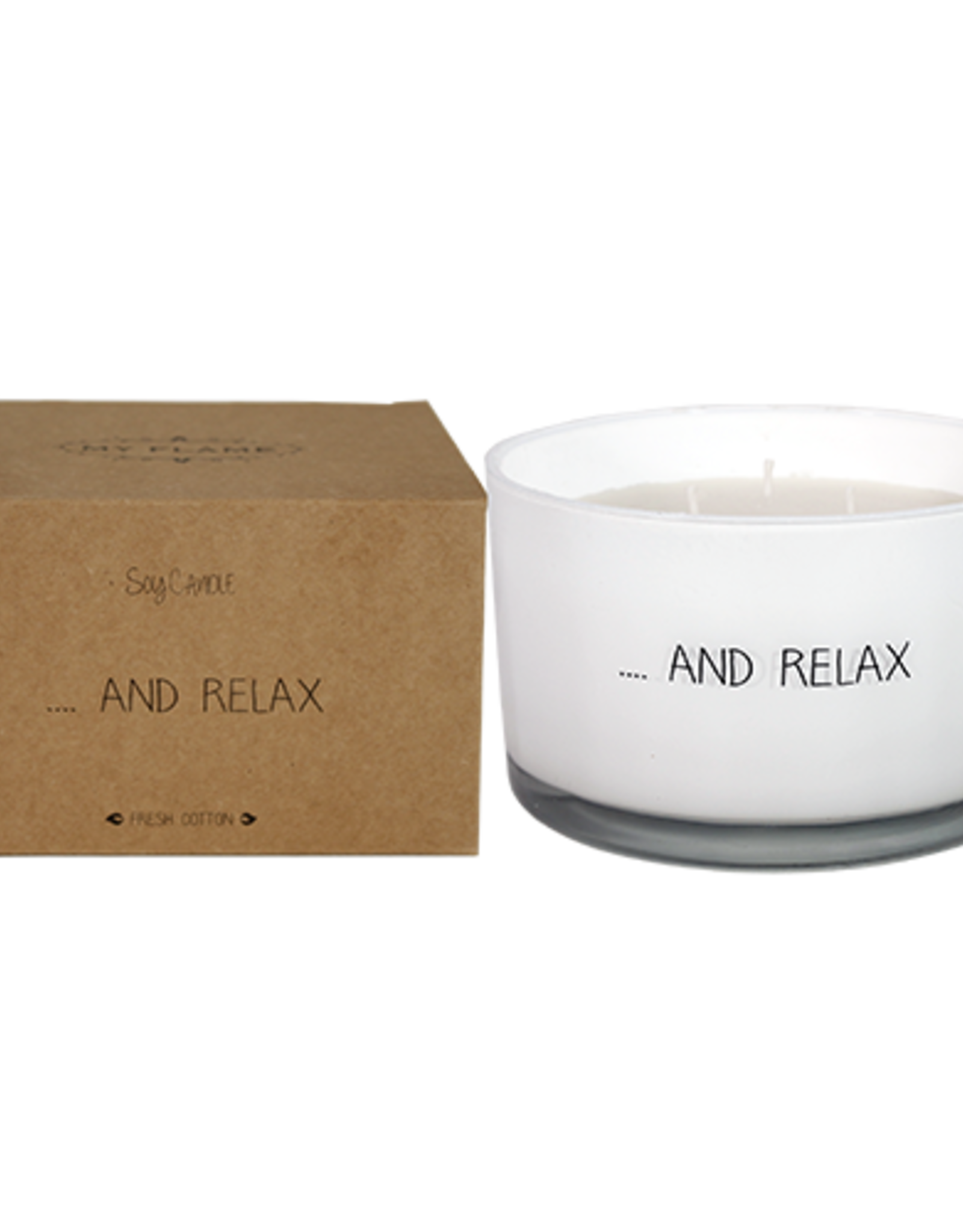 My flame Lifestyle SOJAKAARS – AND RELAX – GEUR: FRESH COTTON