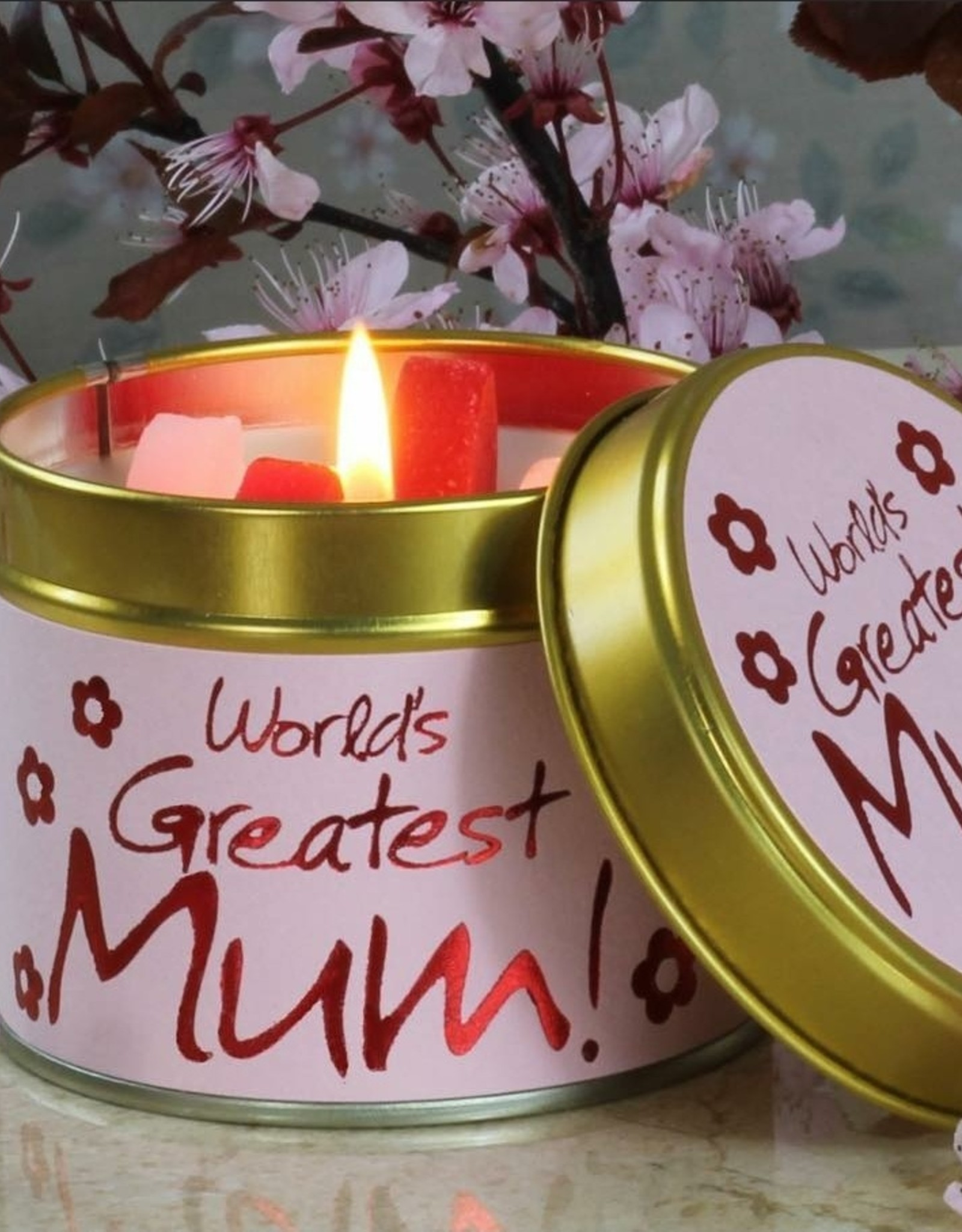 Lily-flame  Lily Flame  | Geurkaars | World's Greatest Mum