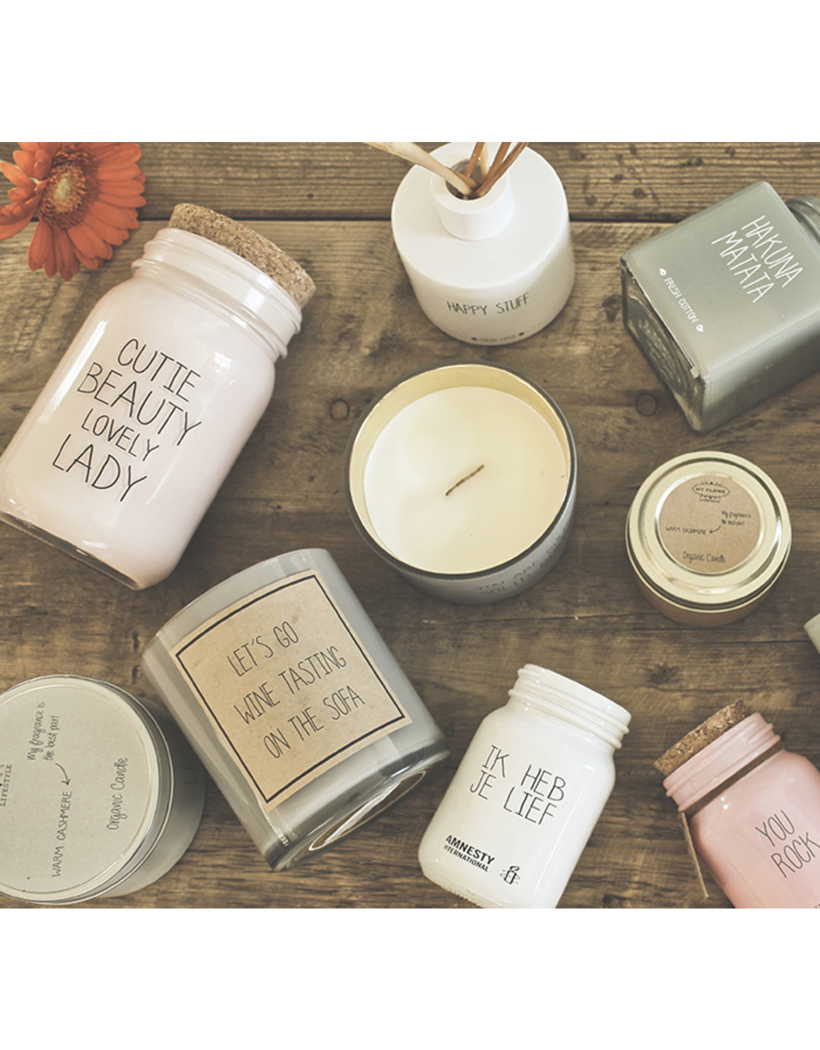 My flame Lifestyle Sojakaars | Cutie Beauty | Geur : Green Tea Time