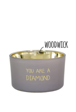 My flame Lifestyle SOJAKAARS MET HOUTEN LONT | YOU ARE A DIAMOND | GEUR : AMBER'S SECRET