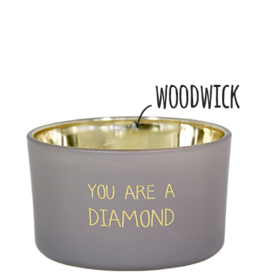 My flame Lifestyle Sojakaars met houten lont | You are a diamond