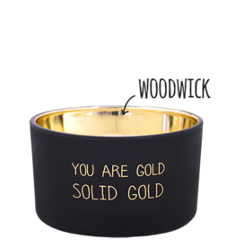 My flame Lifestyle Sojakaars met houten lont | You are gold