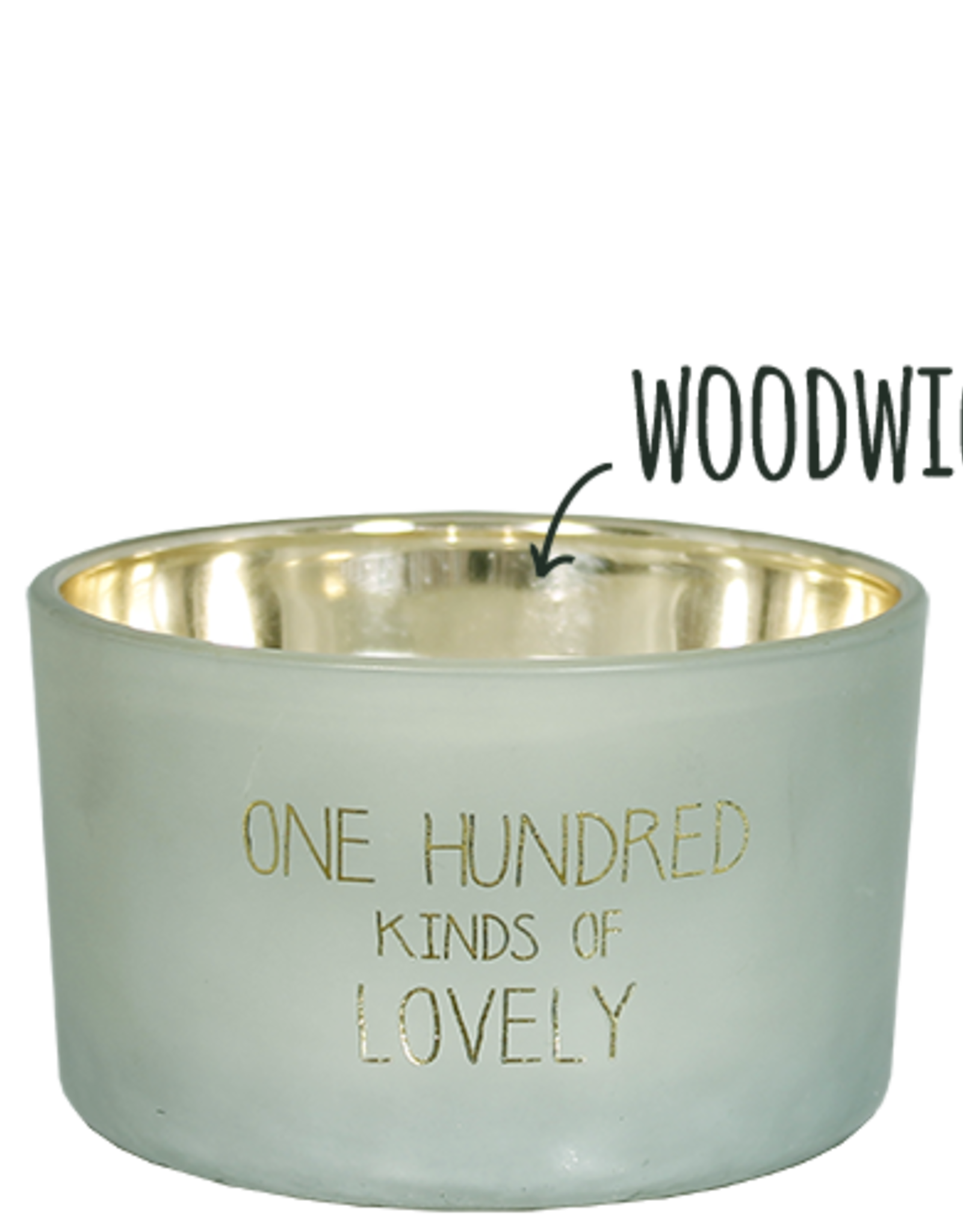 My flame Lifestyle Sojakaars | houten lont  | 100 Kinds of Lovely |  Geur : Minty Bamboo
