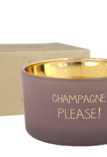 My flame Lifestyle SOJAKAARS MET HOUTEN LONT| CHAMPAGNE PLEASE |  GEUR : FIG'S DELIGHT