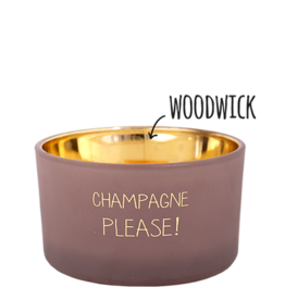 My flame Lifestyle Sojakaars met houten lont | Champagne Please