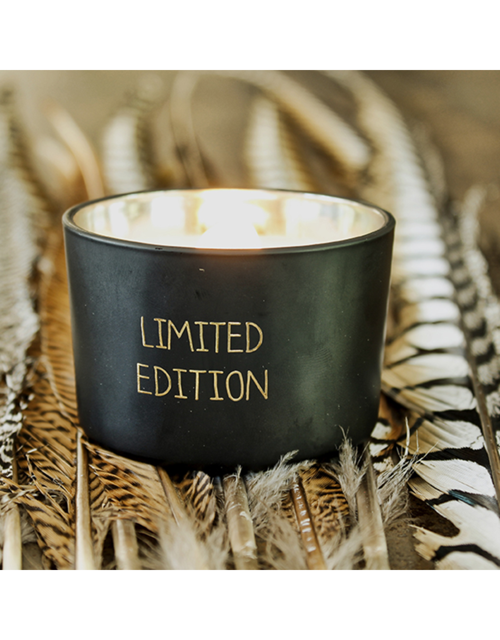 My flame Lifestyle SOJAKAARS MET HOUTEN LONT | LIMITED EDITION   |  GEUR : WARM CASHMERE