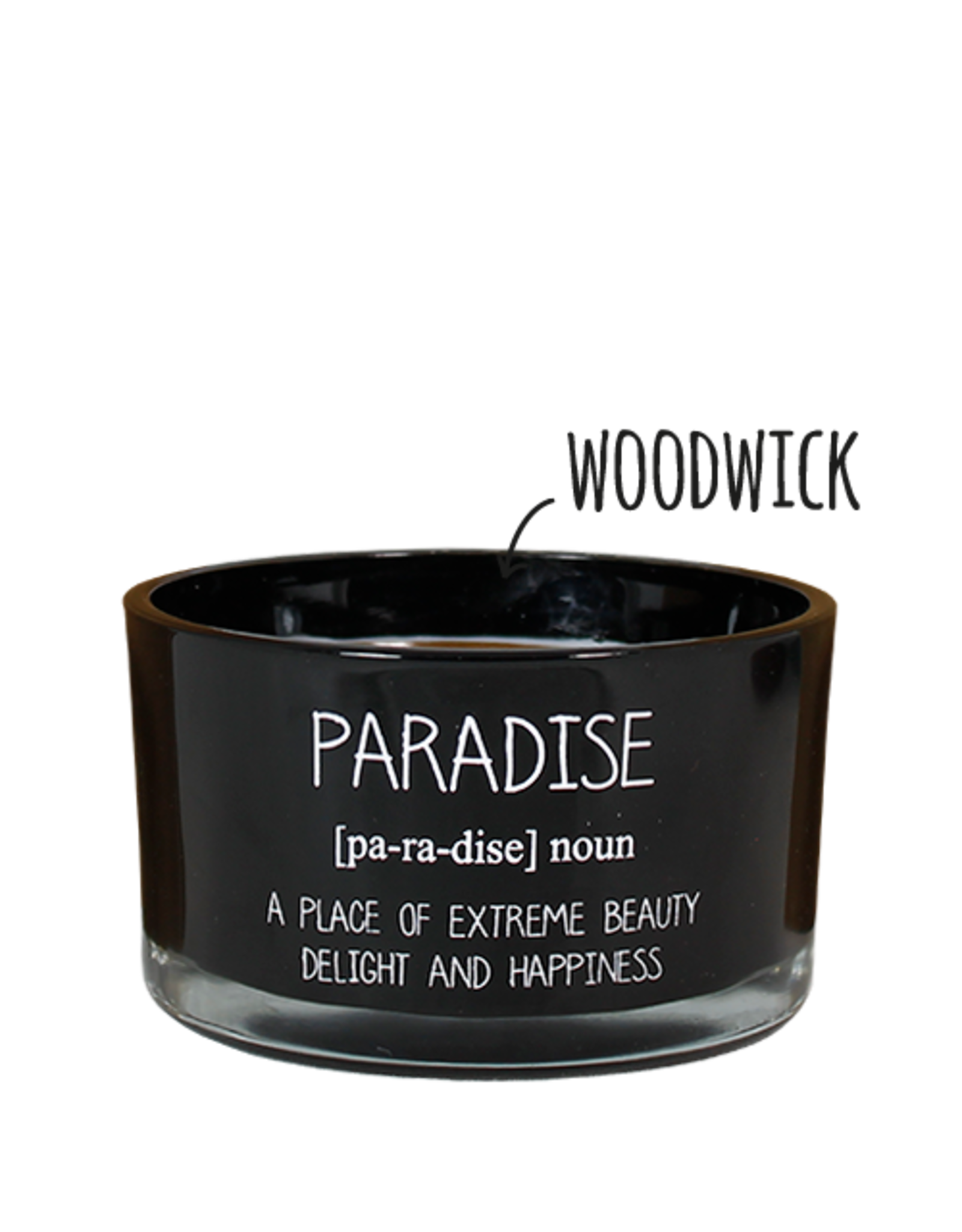 My flame Lifestyle SOJAKAARS MET HOUTEN LONT | PARADISE | GEUR: WARM CASHMERE