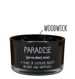 My flame Lifestyle Sojakaars met houten lont | Paradise