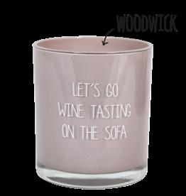 My flame Lifestyle Sojakaars met houten lont | Let's go wine ..|