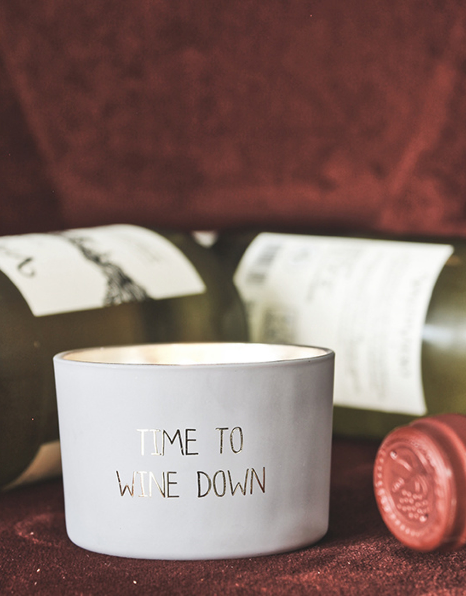 My flame Lifestyle SOJAKAARS MET HOUTEN LONT | TIME TO WINE DOWN  |   GEUR : AMBER'S SECRET