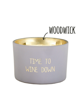 My flame Lifestyle Sojakaars met houten lont | Time to wine down