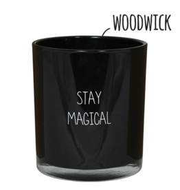 My flame Lifestyle Sojakaars met houten lont  | Stay Magical