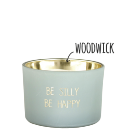 My flame Lifestyle Sojakaars met houten lont | Be silly Be Happy