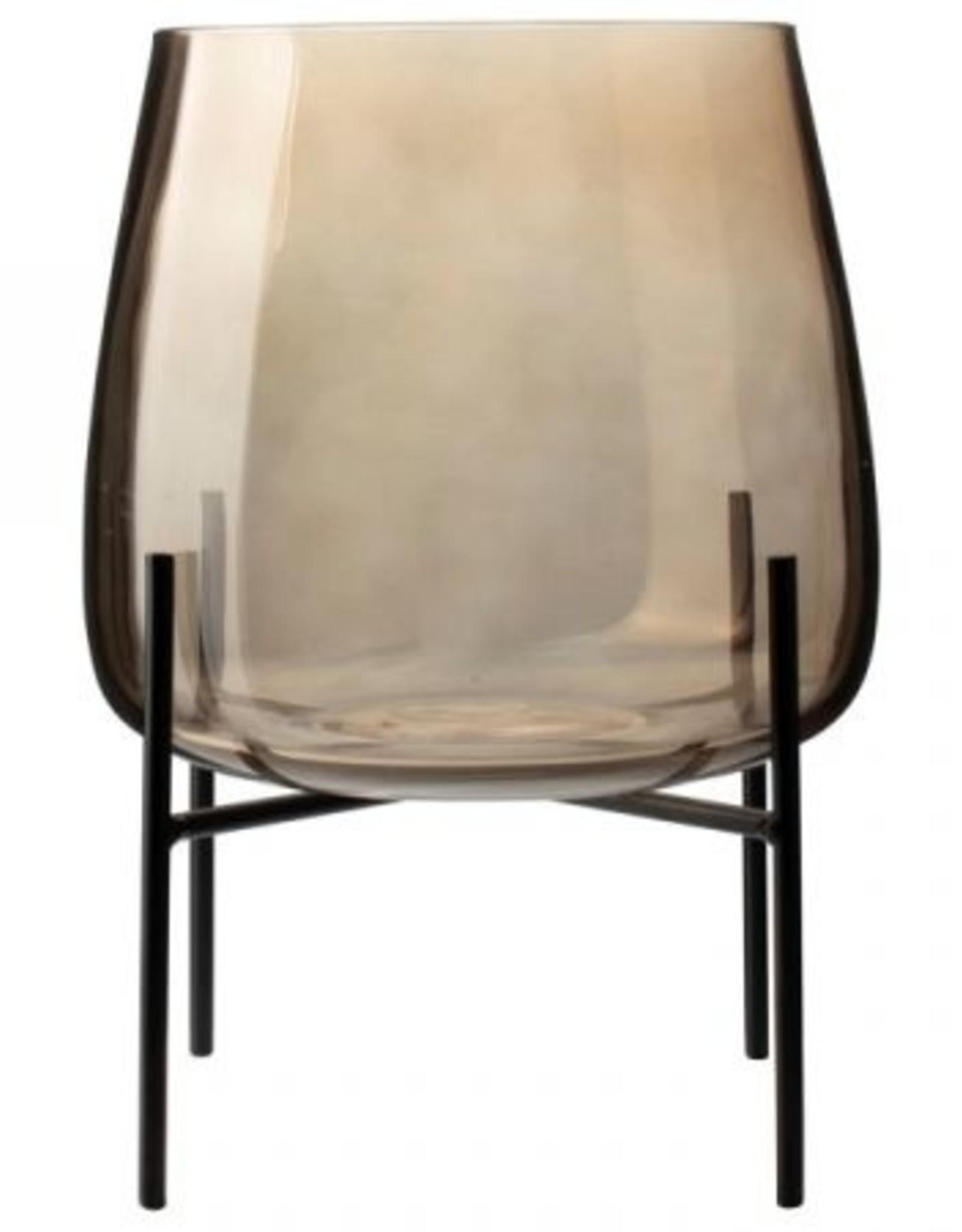 Gusta Glazen vaas op standaard | Gusta| 18 cm  |