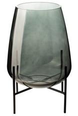 Gusta Glazen vaas op standaard | Gusta| 19 cm