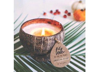 We Love The Planet kokosnoot geurkaars