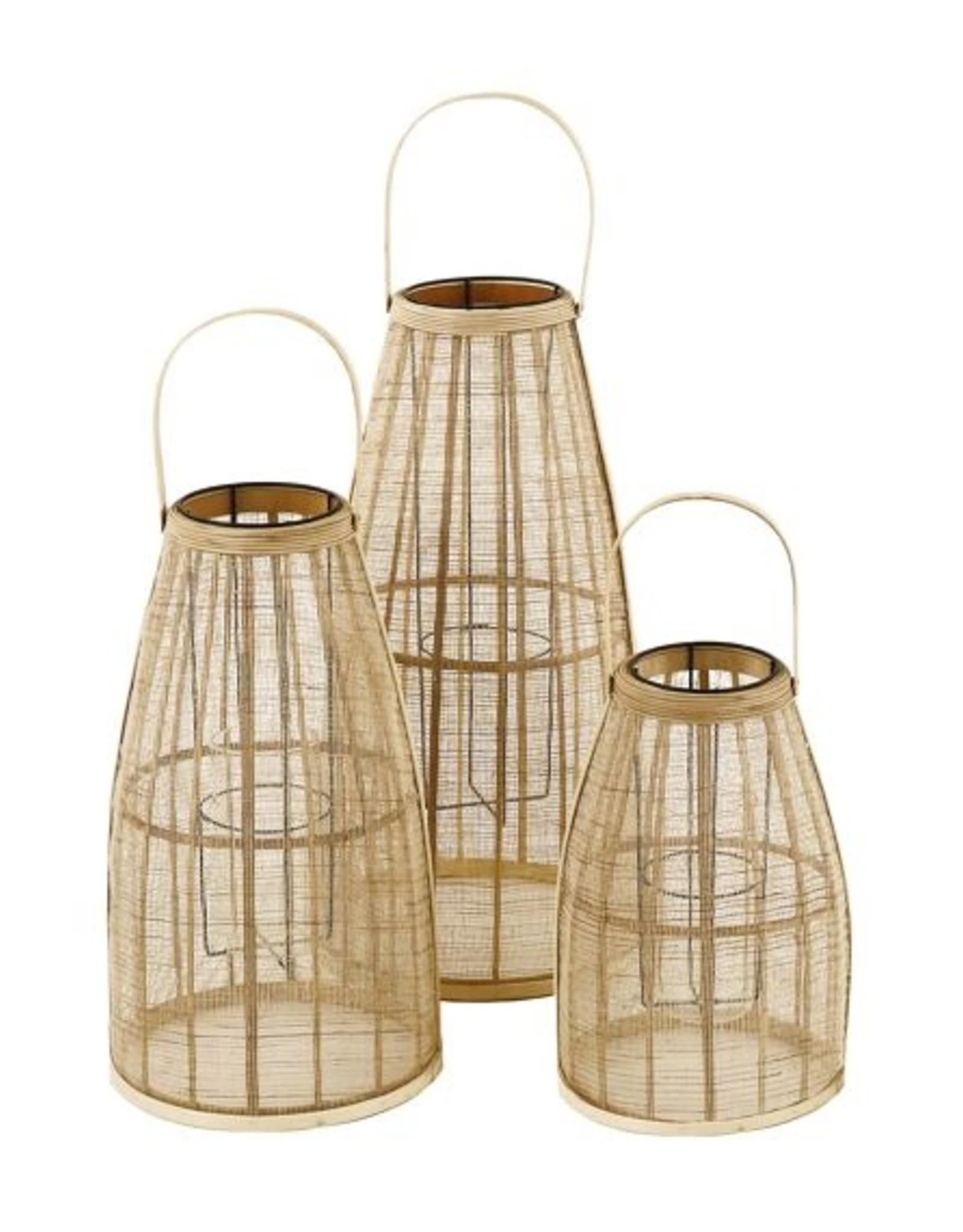 Pomax Windlicht Skagen L| Bamboe | Pomax