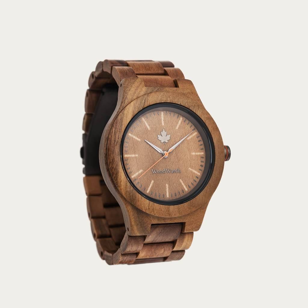 The CORE Collection got its name from the finest quality of wood from the tree. The sporty design is perfect for wood enthusiasts and adventurers alike. Different wood type options available in two diameters fit the likes of men and women alike. Each watc